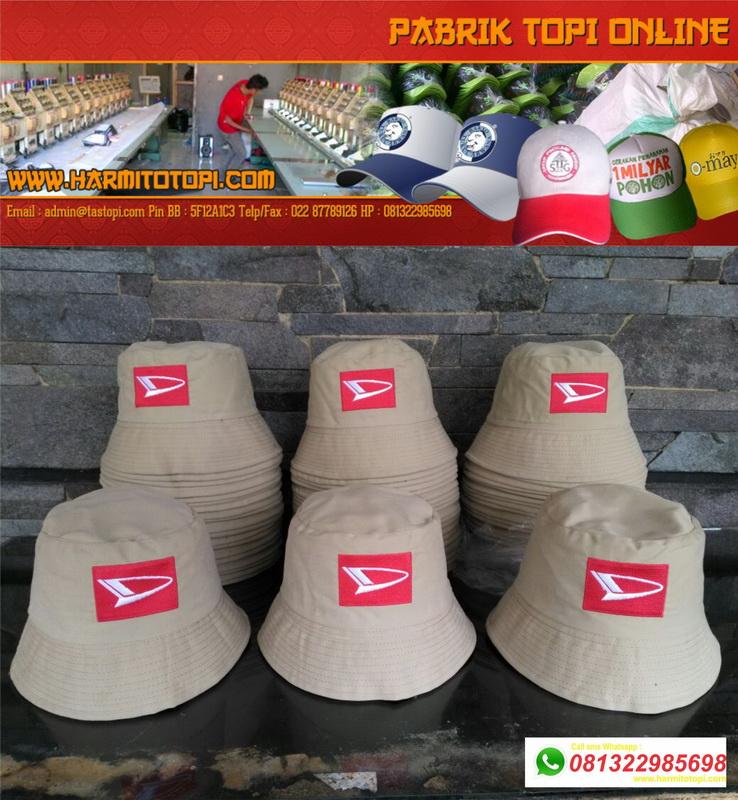 ce9238dd816 Pabrik Produsen Pembikinan Topi Bucket atau Bucket Hat • Harmito ...